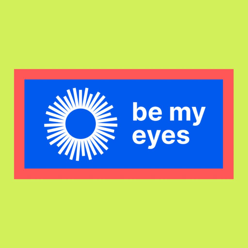 Logotipo da aplicação em azul forte e branco.